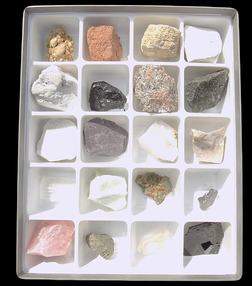 20 Specimen Rock and Mineral Boxed Set - B