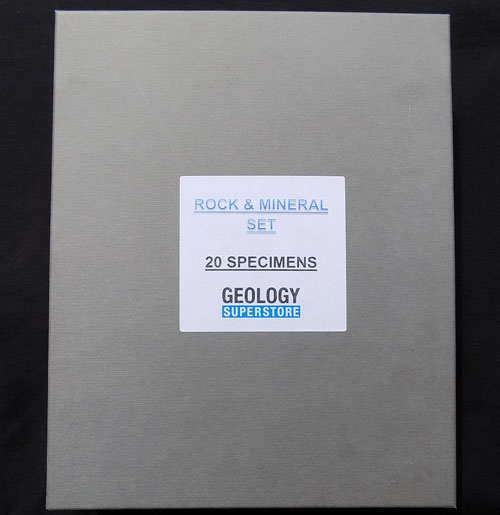 20 Specimen Rock and Mineral Boxed Set - A