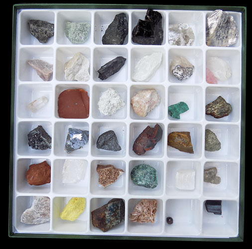 Mineral And Ore 36 Specimen Boxed Set - B
