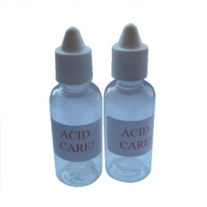 Acid Bottles with Dropper Cap and Lid