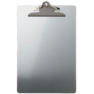 A4 Aluminium Clipboard - Foolscap and Back Hook