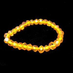 Faceted Amber Bracelet Small