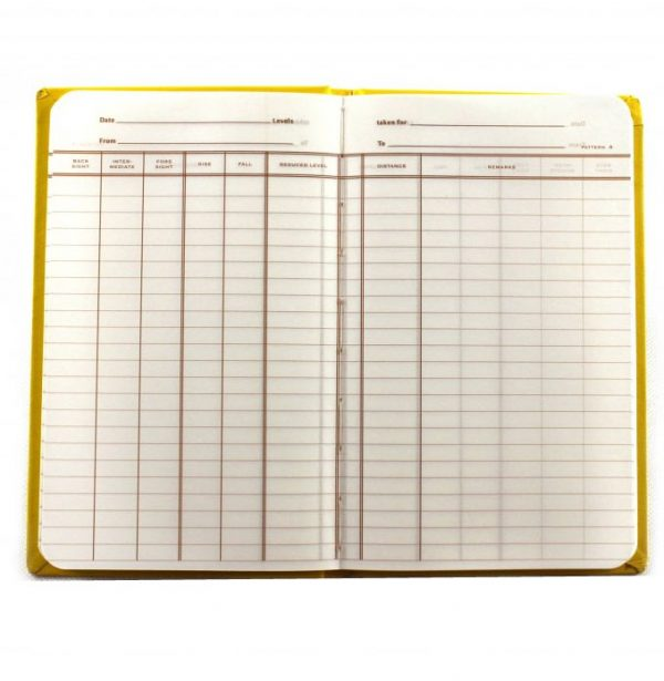 Chartwell Rise and Fall Level Survey Book - 2416 Inside Layout