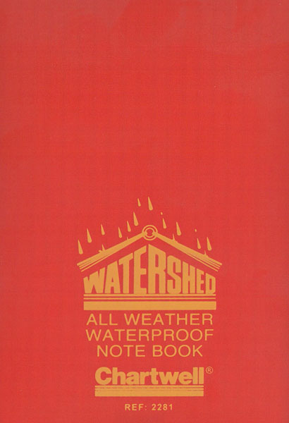 Chartwell Watershed Field Notebook (2281) Cover