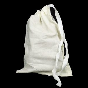 Polycotton Drawstring Bag 127 x 203 mm full and closed