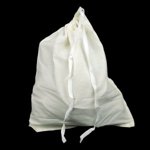 Polycotton Drawstring Bag 254 x 355 mm full and closed