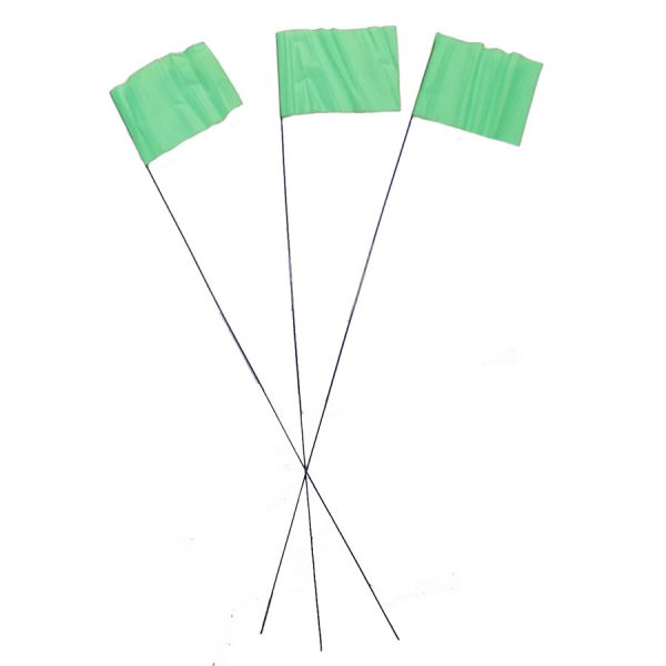 Green Wire Flag Markers