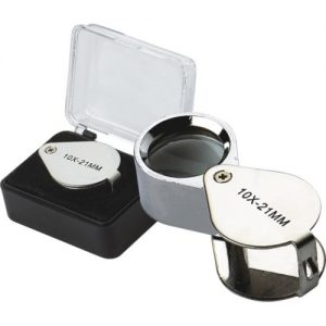 GEO Hand Lens 10X 21 mm with case