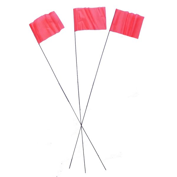Red Wire Flag Markers