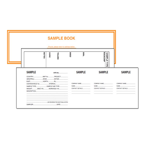 Geological Sample Ticket Book with 3 Tear Off Pages