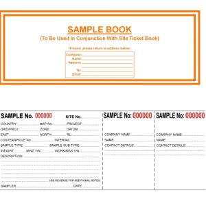 Geological Sample Ticket Book