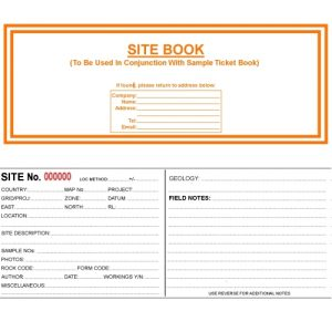 Geological Site Ticket Book