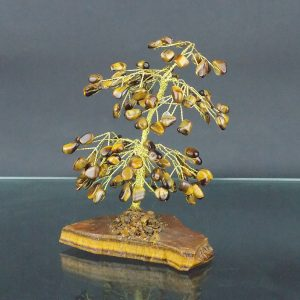 Tigers Eye Gemstone Tree