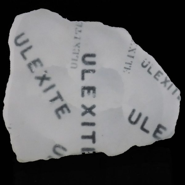 Ulexite - TV Rock showing transmitted image - B