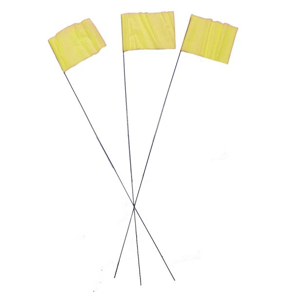 Yellow Wire Flag Markers