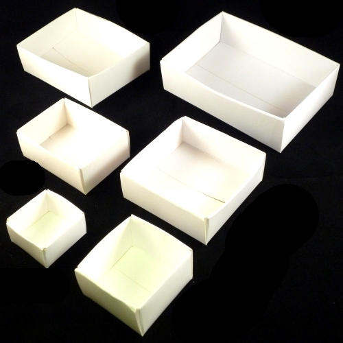 "3"" x 2"" White Card Trays compairson"