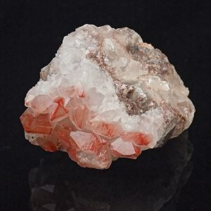 Quartz Hematoide over Baryte