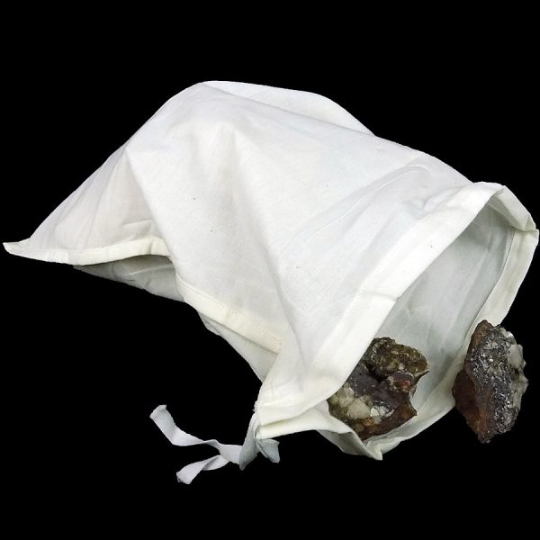 Polycotton Drawstring Bag 304 x 457 mm with mineral ore