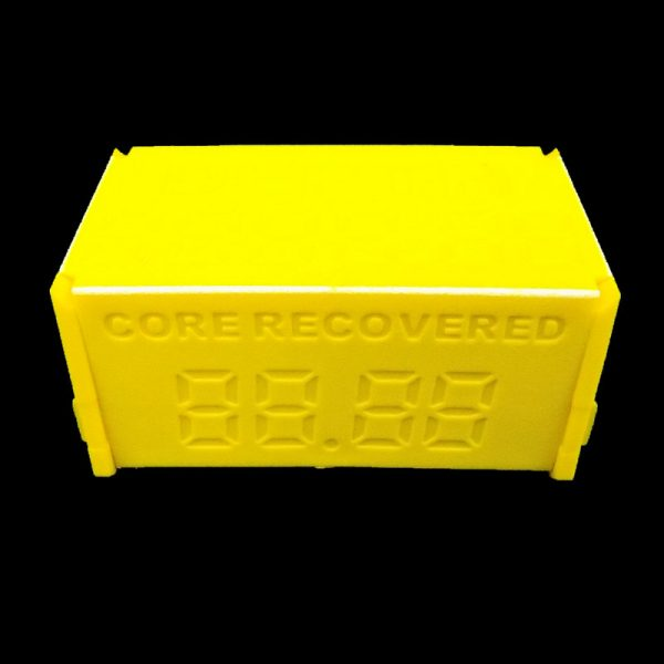 Core Block showing core recovered