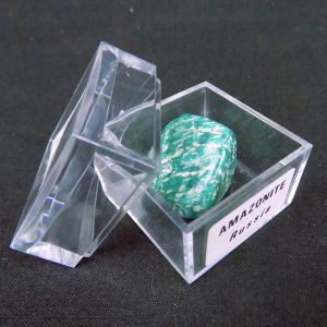 Amazonite ( polished & tumbled ) in Large Mag Box