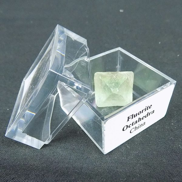 Fluorite Octahedron Crystals in Large Mag Box