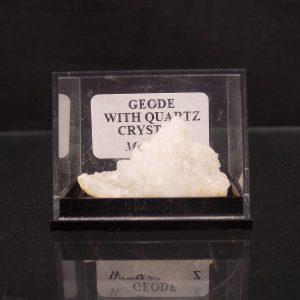 Geode with Quartz in Gem Box