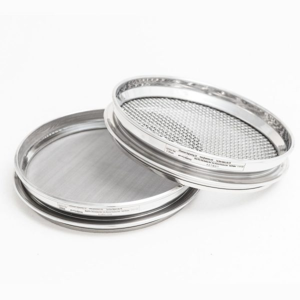 200 mm Diameter Half Height Stainless Steel Sieves by Glenammer