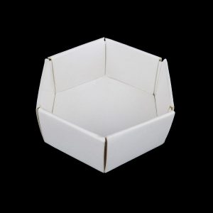 Hexagonal White Card Trays